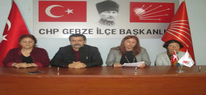 CHP GEBZE KADIN KOLLARI; 'NİLAY AYRAN'DAN UTANIYORUZ'