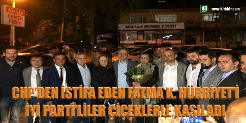 CHP'Lİ VEKİL FATMA K.HÜRRİYET'İ İYİ PARTİ'LİLER ÇİÇEKLERLE KARŞILADI