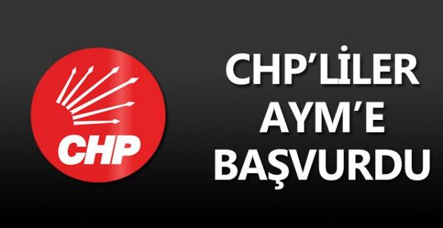 CHP'liler AYM'e başvurdu