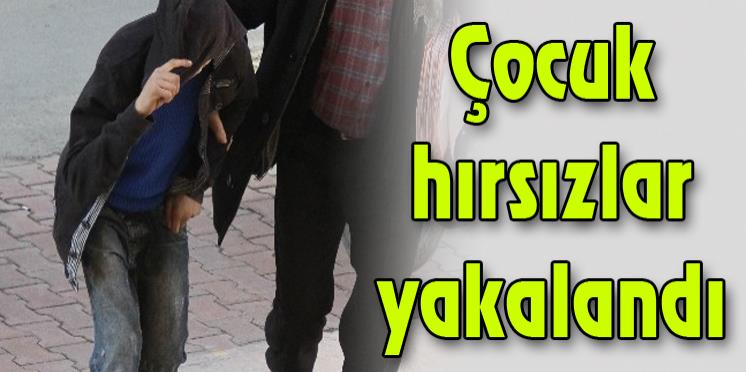 Derince'de işyerlerini soyan çocuk hırsızlar yakalandı!