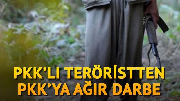 PKK'LI TERÖRİSTTEN, PKK'YA AĞIR DARBE