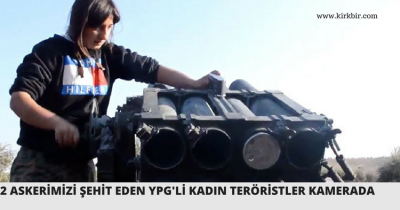 2 ASKERİMİZİ ŞEHİT EDEN YPG'Lİ KADIN TERÖRİSTLER KAMERADA