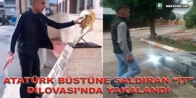 ATATÜRK BÜSTÜNE SALDIRAN İT DİLOVASI'NDA YAKALANDI
