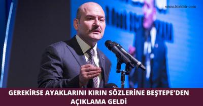 GEREKİRSE AYAKLARINI KIRIN SÖZLERİNE BEŞTEPE'DEN AÇIKLAMA GELDİ