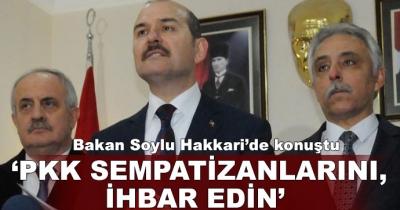 İçişleri Bakanı Süleyman Soylu Hakkari'de konuştu