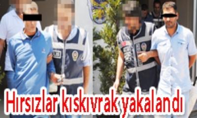 İSTANBUL'DAN GELİP DERİNCE'DE EV SOYMAYA KALKAN HIRSIZLAR KISKIVRAK YAKALANDI