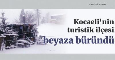 KARTEPE'DE KAR 15 CM'Yİ BULDU