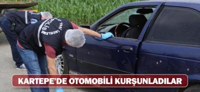KARTEPE'DE KURŞUNLANMIŞ ARAÇ BULUNDU