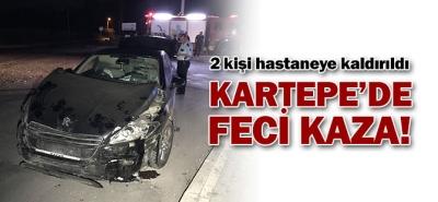 KARTEPE'DEKİ KAZADA 2 KİŞİ YARALANDI