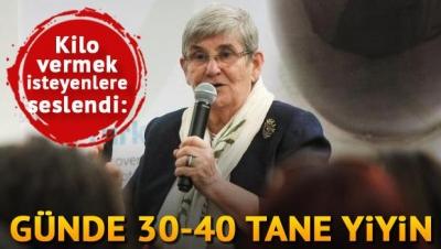 KİLO VERMEK İSTEYENLER HERGÜN 30-40 TANE YİYİN
