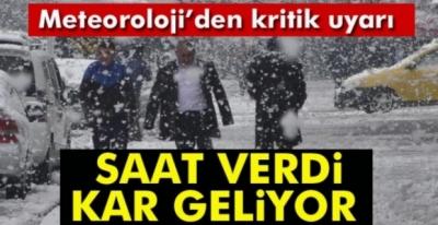 KOCAELİ İÇİN KAR YAĞIŞI !!!