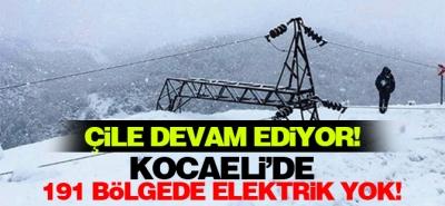Kocaeli'de 191 bölgeye elektrik verilemiyor