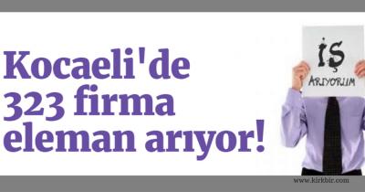 KOCAELİ'DE 323 FİRMA ELEMAN ARIYOR. İŞTE TELEFON NUMARALARI