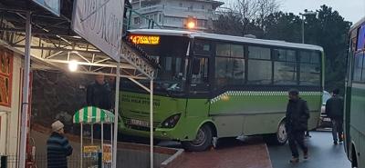 Özel Halk Otobüsünün freni patladı! Büyük Korku Yaşandı!