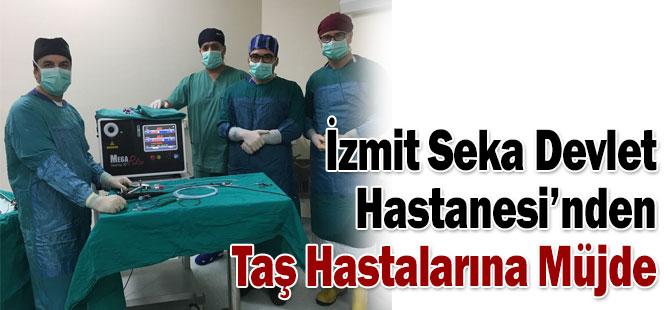 İzmit Seka Devlet Hastanesi'nden Taş Hastalarına Müjde
