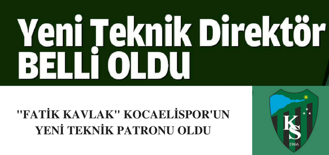 KOCAELİSPOR'UN YENİ TEKNİK PATRONU BELLİ OLDU
