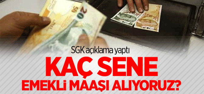 SGK'dan emekli maaşı açıklaması!