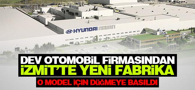Dev otomobil firmasından İzmit'te yeni fabrika