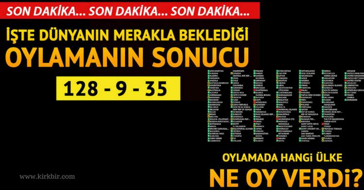 DÜNYA'DAN TRUMP'A OSMANLI TOKADI GİBİ KUDÜS KARARI!