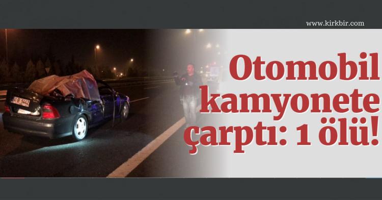 KARTEPE'DE TRAFİK KAZASI 1 ÖLÜ