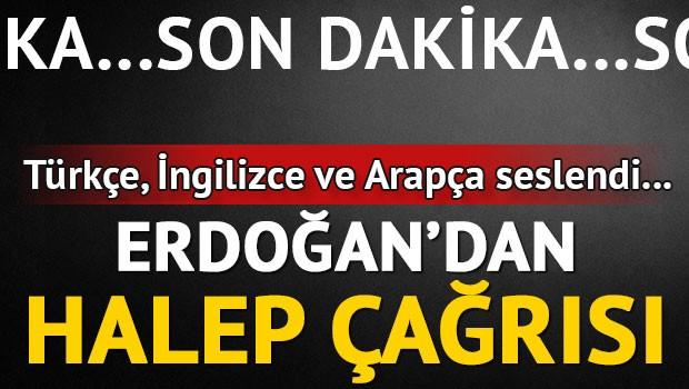 Son dakika haberi: Erdoğan'dan Halep çağrısı