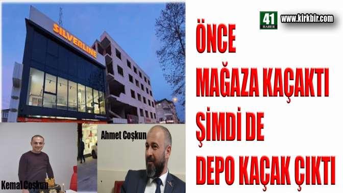 ÖNCE MAĞAZA KAÇAKTI ŞİMDİ DE DEPO!